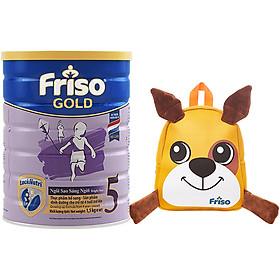 Sữa Bột Friso Gold 5 Cho Trẻ trên 4 tuổi 1.5kg + Tặng Balo cún con xinh xắn