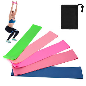 5 PCS Sports Exercise Resistance Loop Bands Set Elastic Booty Band Set for Yoga Home Gym Training