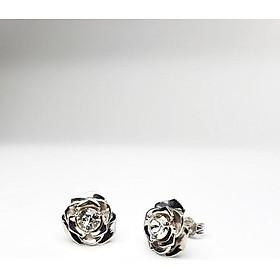 KEELY VALDA Bông tai bạc ROSE mạ bạch kim đá Swarovski [có video]