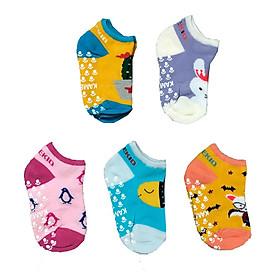 Combo 5 đôi tất cotton Chống Trượt cho bé trai, bé gái size 3 tháng đến 8 tuổi, tất mềm, mịn co giãn tốt, hàng Việt Nam chất lượng