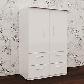Tủ nhựa đài loan 2 cánh 4 ngăn kéo màu trắng - V247