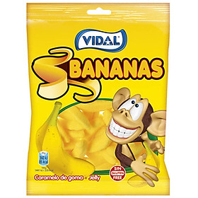 Kẹo Dẻo Hình Quả Chuối Vidal (Gói 100g)