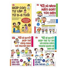 Sách – Combo Tủ Sách Làm Cha Mẹ (4 cuốn) – 42 Bí Quyết Giúp Trẻ Tự Tin Và Dũng Cảm Trong Quan Hệ Bạn Bè + 43 Kĩ Năng Kiểm Soát Tức Giận + 49 Bí Quyết Giúp Trẻ Lắng Nghe Và Truyền Đạt + Giúp Con Tự Lập Từ 0-6 Tuổi