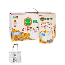 Lốc 20 túi Sữa đậu nành, hạnh nhân và óc chó Vegemil 190ml - Tặng 1 túi vải canvas