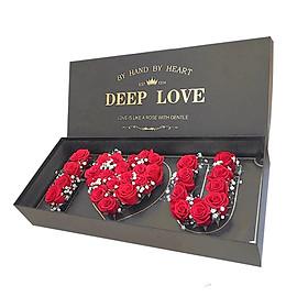 Hộp hoa tươi - I Love You (Hộp Xám) 4323