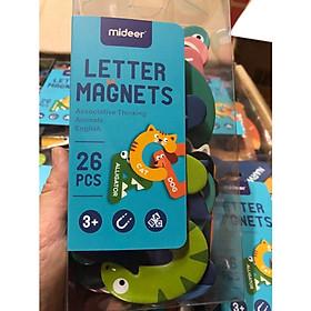 Mideer Magnet Letters - Bộ chữ cái tiếng Anh hình động vật có nam châm cho bé học chữ từ 2 tuổi trở lên