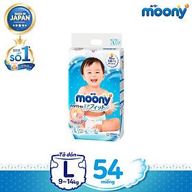 [Mã mới] Tã dán cao cấp Moony NB90/S84/L54 (Nhập khẩu từ Nhật Bản)