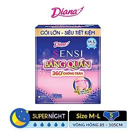 Băng vệ sinh Diana Sensi dạng quần size M-L gói 5 miếng