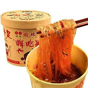 1 Hộp Miến Chua Cay Trùng Khánh Hình Con Trâu Con Hộp 103 gram