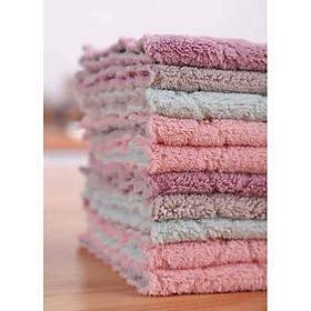 Bộ 100 khăn lau 2 mặt siêu thấm- Khăn lau không phai màu không rụng sợi- nhanh khô- Khăn lau bếp, khăn lau kính, lau bát lau tay