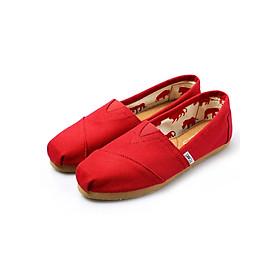 Giày Vải Nữ TS01 - Đỏ