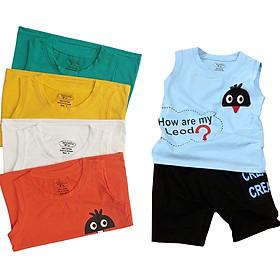 Combo 5 Bộ quần áo bé trai từ 8kg đến 23kg,vải cotton 100% mềm mại 4 chiều, thấm hút mồ hôi tốt, áo sát nách , quần có túi cho bé