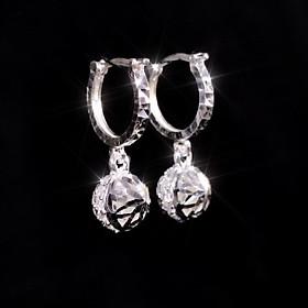 Bông tai bạc đẹp - Hoa tai bạc nữ hai mặt Panmila (HT.A9.B)