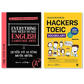 Combo Sách : Everything You Need To Ace English Language Arts - Quyển Vở Ai Cũng Muốn Mượn + HACKERS TOEIC VOCABULARY