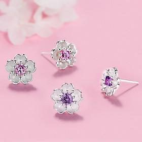 Hoa tai nữ nhỏ hoa anh đào tuyệt đẹp