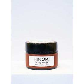 Mặt nạ giảm mụn, giảm sưng, gom cồi mụn và ngăn ngừa mụn Hinoki Acne Mask Zakka Naturals 40g