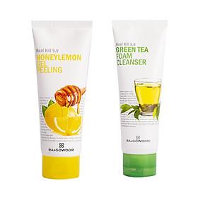 Combo làm sạch da dành cho da nhờn, mụn Ra&Gowoori (Gel tẩy tế bào chết mật ong chanh Ra&Gowoori 160 ml + Sữa rửa mặt Ra&Gowoori 120 ml)