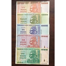 Bộ tiền cổ lạm phát của Zimbabwe, 5 tờ tiền tỷ sưu tầm
