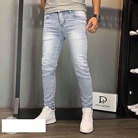Quần jean nam xanh bạc Julido Store, chất jean co dãn 4 chiều tôn dáng nam tính BC5678
