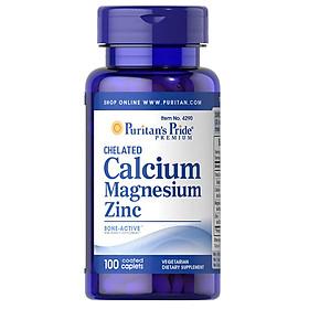 Thực phẩm chức năng bảo vệ sức khỏe Chelated Calcium Magnesium Zinc (bổ sung Magie, Canxi, Kẽm)  100 viên