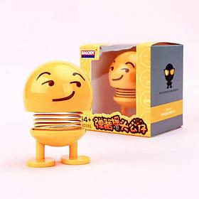 Bộ 4 con Lật Đật Icon Lò Xo Nhún Xả Stress - Lật Đật Emoji Trang Trí Xe Ôto, bàn làm việc - giao ngẫu nhiên
