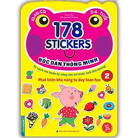 Bóc Dán Hình Thông Minh Phát Triển Khả Năng Tư Duy Toán Học IQ EQ CQ (3-4 Tuổi) - 178 Sticker (Quyển 2)