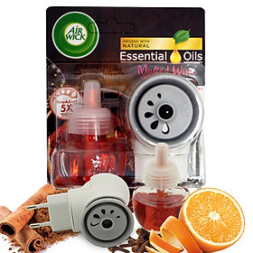 Bộ khuếch tán tinh dầu tự động Air Wick Mulled Wine 19ml QT09420 - Cam, quế, đinh hương