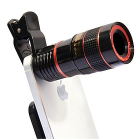 Universal Clip-on 8X Optical Zoom HD Monocular Telescope Camera Lens For Mobilephone Tablet