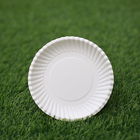 COMBO 100 DĨA GIẤY TRẮNG CAO CẤP 13cm - Paper plate