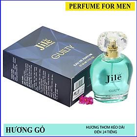 Nước hoa nam cao cấp chính hãng Jile Guilty 50ml với hương thơm mạnh mẽ, nam tính, lịch lãm, quý phái.