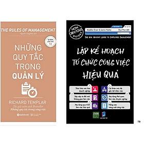 Combo 2 Cuốn: Những Quy Tắc Trong Quản Lý + Lập Kế Hoạch Tổ Chức Công Việc Hiệu Quả