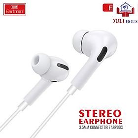 Tai nghe nhét tai - Hàng chính hãng, âm thanh chất lượng tốt, kết nối âm thanh 3.5mm, màu trắng sang trọng, tinh tế
