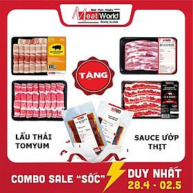 [Chỉ Giao HCM] - Set Lẩu - Nướng Meat World [2-3 người dùng]