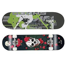 Ván trượt trẻ em Skateboard bánh cao su cao cấp - Giao mẫu ngẫu nhiên