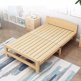 Giường ngủ gỗ thông gấp gọn tặng kèm đệm, có 5 kích thước chiều ngang 60cm - 80cm - 1m - 1m2 - 1m5