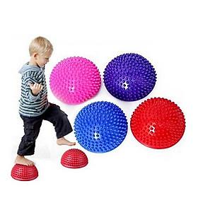 Adult Children Yoga Foot Half Round Massage Cushion Spiky Balance Balls Domed Stability Pods
