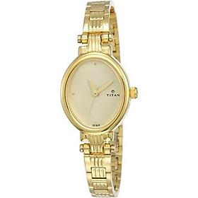 Titan Women's Analog White Dial Watch