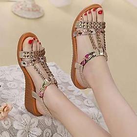 Giày sandal nữ phong cách Hàn Quốc gắn đá đẹp F611