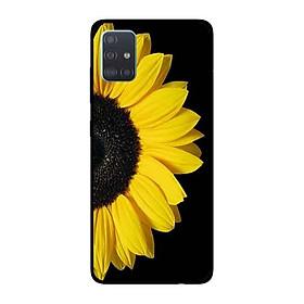 Ốp Lưng in cho Samsung Galaxy A51 mẫu Hoa Hướng Dương Nền Đen - Hàng Chính Hãng
