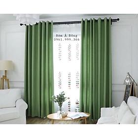 Rèm vải thô màu xanh cốm mát dịu, rèm cửa phòng ngủ, phòng khách