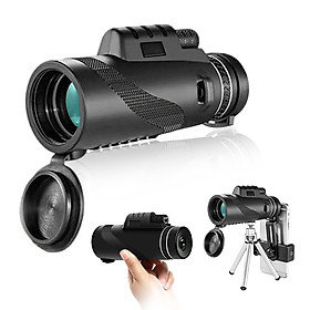 10X40 High Power Monocular Telescope for Bird Watching with Smartphone Adapter and Tripod for Bird Watching Camping