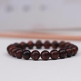 Vòng tay gỗ Sưa Đỏ rừng Quảng Bình 8 ly (25 hạt) Cao cấp. Món quà ý nghĩa cho bố mẹ - Điều hoà huyết áp, ổn định sức khoẻ.