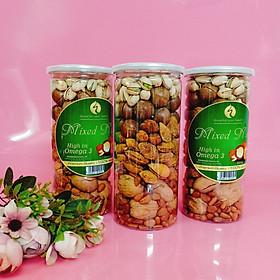 Mixed Nuts 6 loại hạt  dinh dưỡng  còn vỏ ăn liền 500gr
