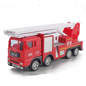 Đồ chơi mô hình xe cứu hỏa thang gập KAVY chất liệu hợp kim và nhựa an toàn , chạy đà rất xa chi tiết sắc sảo