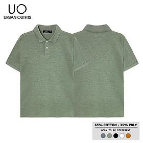 Áo Thun Cổ Bẻ Nam Nữ URBAN OUTFITS In Chữ Nổi PLR02 Tay Ngắn Dáng Unisex Cặp Đôi Hàn Quốc Outfit Vải Thun Cotton 4 Chiều