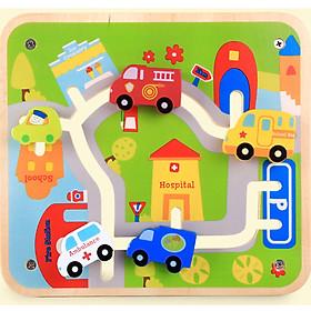 Đồ chơi gỗ trí tuệ - Nhận biết chức năng của các phương tiện giao thông