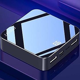 Pin Sạc Dự Phòng Mini Mirror Pisen 10000mAh (Hợp kim Mac + 2 Mặt Kính, 2x USB Smart, Led) - Hàng Chính Hãng