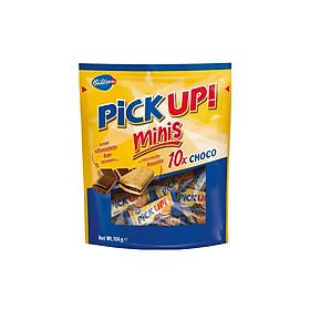 Bánh quy sô cô la Minis Pick Up Đức gói 106g x 10 thanh, sôcôla nguyên chất, bánh quy bơ giòn rụm