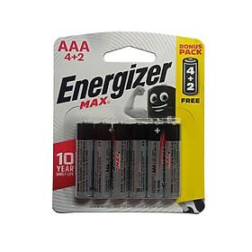 Pin Max 4 + 2 Viên Energizer E92 BP4+2 AAA - Hàng Chính Hãng Model 2020