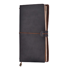 Leather Journal Travel Notebook Refillable Diary Notepad Lined Blank Grid Paper Card Holder for Travelers Business